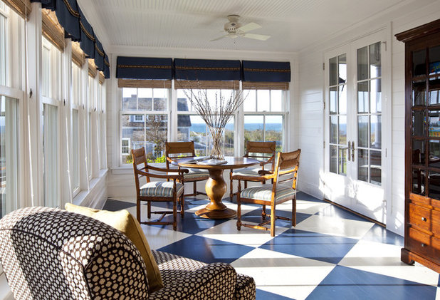 Traditional Sunroom by Jeannie Balsam Interiors