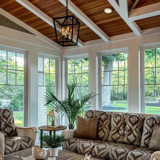 Immagine di una veranda stile marino