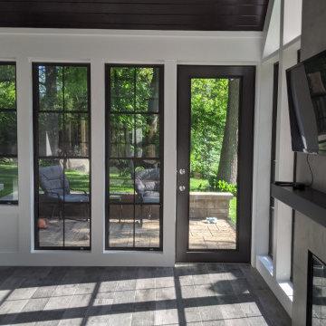 New Three-Seasons Room addition onto a Basement