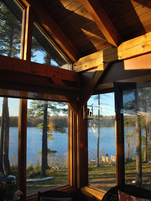 Rustic Ottawa Sunroom Design Ideas Remodels Photos
