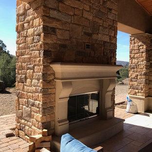 Outdoor fireplace mantels