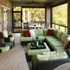 Transitional Sunroom by KSID Interiors, Inc.