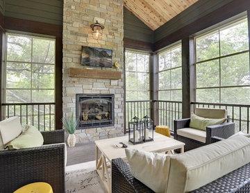 Outdoor Living Room – 2015 Artisan Home Tour – Black Oaks