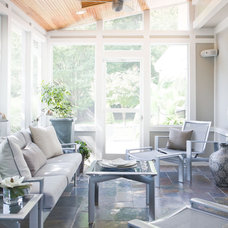 Transitional Sunroom by Sheffield Furniture & Interiors