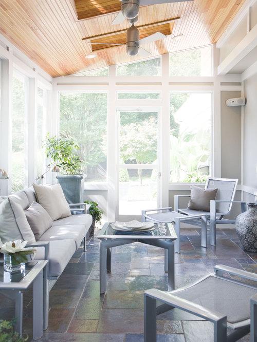 small sunroom houzz. Black Bedroom Furniture Sets. Home Design Ideas