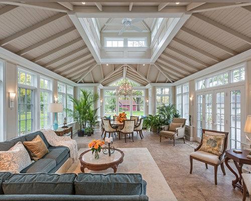 Foto e idee per verande veranda classica con pavimento con
