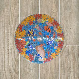 Plank Ceramic Flooring Mosaic Tile Ideas