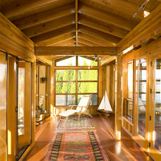 Traditional Sunroom Point Monroe Boathouse and Carriage House