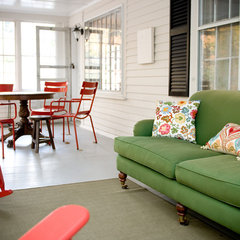 eclectic porch by LKM Design