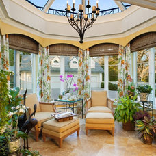 Traditional Sunroom by Bruce Palmer Interior Design