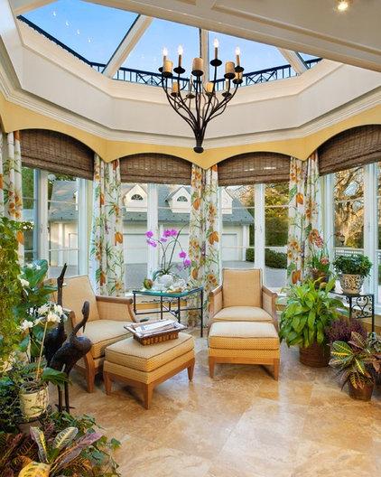 Traditional Sunroom by Bruce Palmer Interior Design