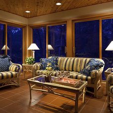 Traditional Sunroom by Don F. Wong