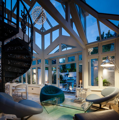 Eclectic Conservatory by Kingston Lafferty Design