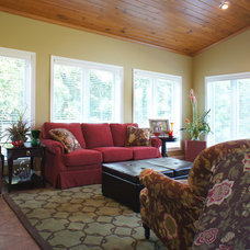 Transitional Porch by Angela Francis Interiors, LLC