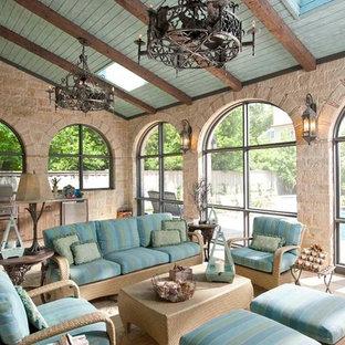 Photo of a mediterranean conservatory in Dallas.