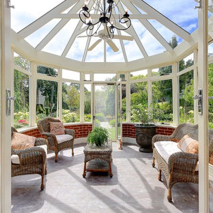 Inspiration For A Victorian Sunroom Remodel In Adelaide With A Glass Ceiling