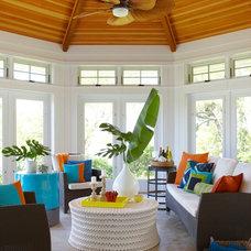 Beach Style Porch by Rachel Reider Interiors