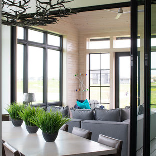 Inspiration for a contemporary sunroom remodel in Other