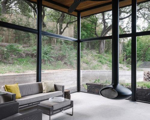 v randas avec chemin e suspendue photos et id es d co de v randas. Black Bedroom Furniture Sets. Home Design Ideas