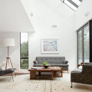 Sunroom - large contemporary light wood floor sunroom idea in Los Angeles