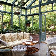 Traditional Sunroom by B. Jane Gardens