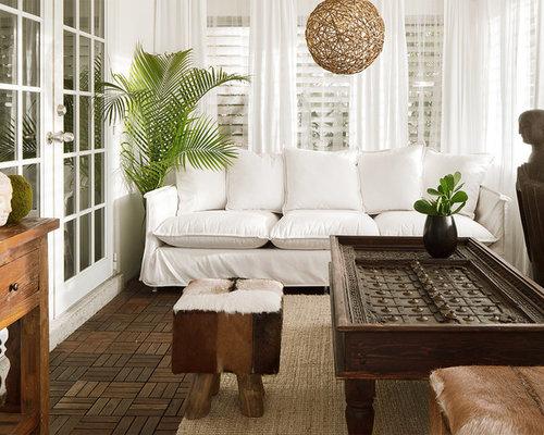 photos exotique veranda et verriere query rideau voilage blanc