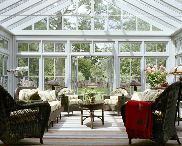 Farmhouse Sunroom by Douglas VanderHorn Architects