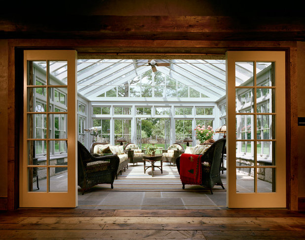 Farmhouse Sunroom by Douglas VanderHorn Architects