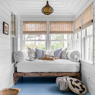 75 Most Popular Painted Wood Floor Sunroom Design Ideas For 2019