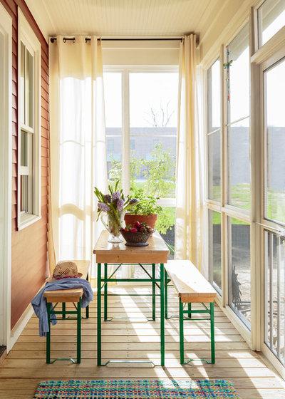 Farmhouse Sunroom by MSiegel Design