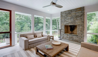 Screened in Porch with Masonry Fireplace