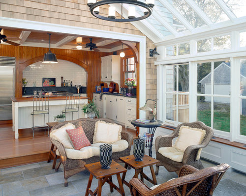 Country Sunroom Houzz
