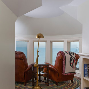 Skyline Sitting Room at Top of Turret Overlooking Lake Michigan