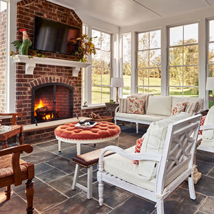 Example of a classic sunroom design in Charlotte