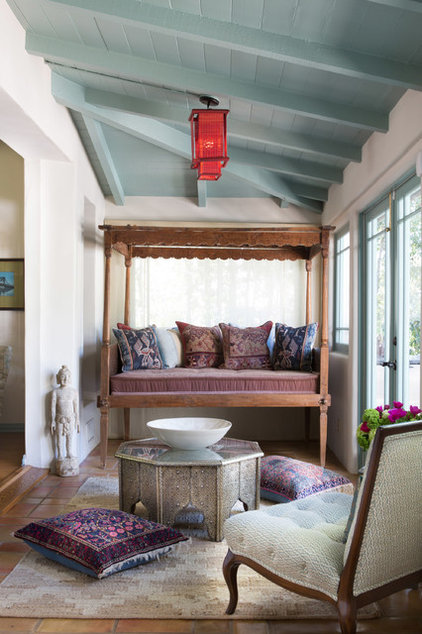 Mediterranean Sunroom by Charmean Neithart Interiors, LLC.