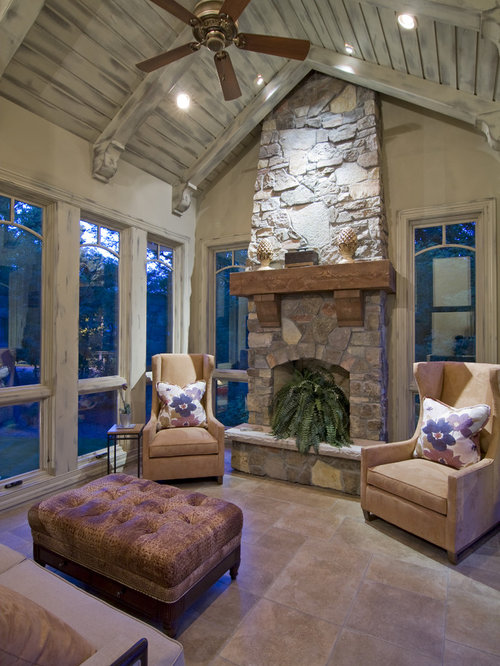 Sunrooms With Fireplaces | Houzz