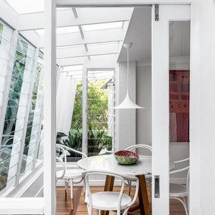 Design ideas for a midcentury sunroom in Brisbane.