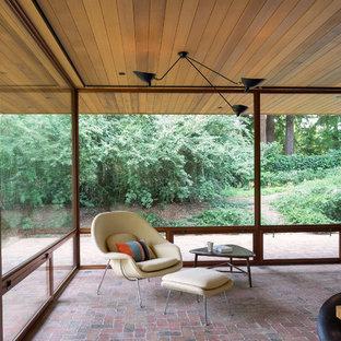 Foto di una veranda minimalista