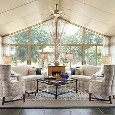 Traditional Porch by StarrMiller Interior Design, Inc.