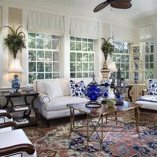 Traditional Sunroom by Diane Burgoyne Interiors