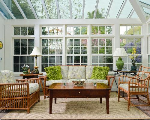 v randas et verri res avec un plafond en verre et un sol en brique photos et id es d co de. Black Bedroom Furniture Sets. Home Design Ideas