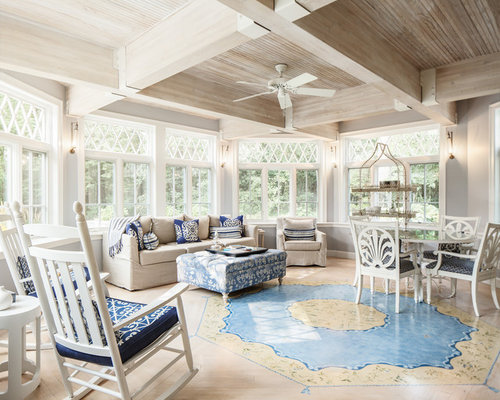 Farmhouse boston sunroom design ideas remodels photos for Farmhouse sunroom ideas
