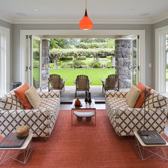 contemporary family room by Emerick Architects