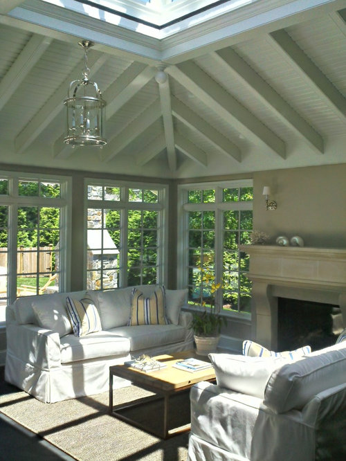Sunroom design ideas remodels photos with porcelain for Sunroom tile floor ideas