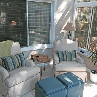 Design ideas for a small classic conservatory in Baltimore with ceramic flooring and no fireplace.