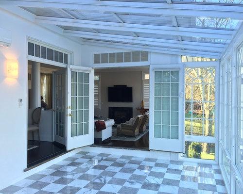 v randas et verri res classiques avec chemin e suspendue photos et id es d co de v randas et. Black Bedroom Furniture Sets. Home Design Ideas