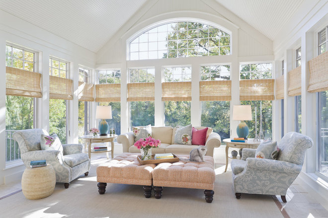 Traditional Sunroom by Lucy Interior Design