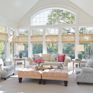Inspiration For A Large Timeless Gray Floor Sunroom Remodel In Minneapolis With Standard Ceiling