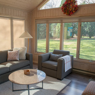 Sunroom with Maple Hardwood