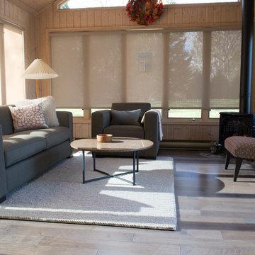 Sunroom with Maple Hardwood